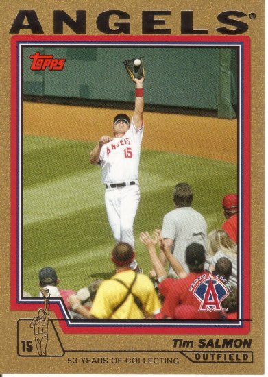 TIM SALMON 2004 TOPPS GOLD #189 SP# 0429/2004 ANAHEIM ANGELS