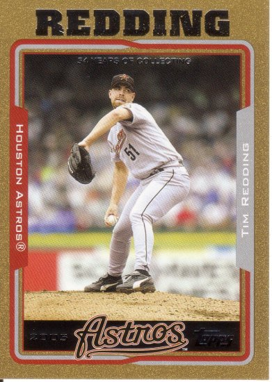 TIM REDDING 2005 TOPPS GOLD #111 SP# 1228/2005 HOUSTON ASTROS