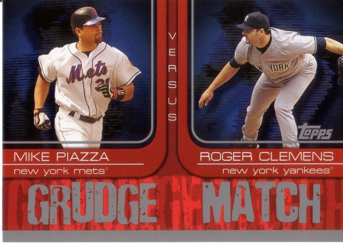MIKE PIAZZA / ROGER CLEMENS 2005 TOPPS GRUDGE MATCH #2 NEW YORK METS / YANKEES
