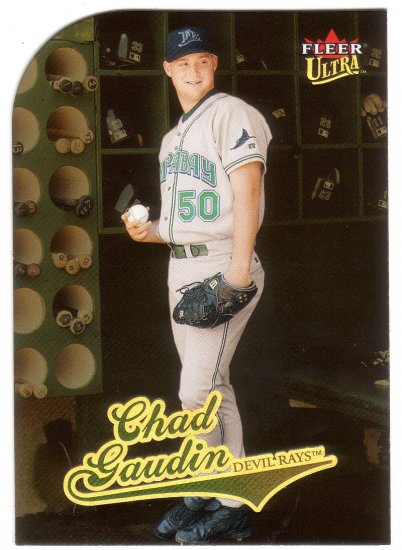 CHAD GAUDIN 2004 ULTRA GOLD MEDALLION #202 DIE-CUT ROOKIE TAMPA BAY DEVIL RAYS