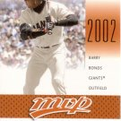 BARRY BONDS 2003 MVP MVP CELEBRATION #82 SP# 0155/2001 SAN FRANCISCO GIANTS