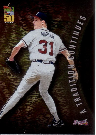 GREG MADDUX 2001 TOPPS A TRADITION CONTINUES #10 ATLANTA BRAVES