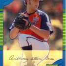 ANTHONY LEREW 2005 BOWMAN CHROME DRAFT BLUE REFRACTOR #164 SP# 009/150 ROOKIE ATLANTA BRAVES