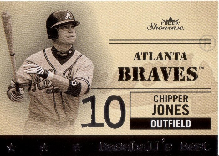 CHIPPER JONES 2004 SHOWCASE BASEBALL'S BEST #14 ATLANTA BRAVES