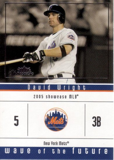 DAVID WRIGHT 2005 SHOWCASE WAVE OF THE FUTURE #15 ROOKIE NEW YORK METS