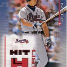 CHIPPER JONES 2002 DONRUSS ORIGINALS HIT LIST #HL-9 SP# 0279/1500 ATLANTA BRAVES
