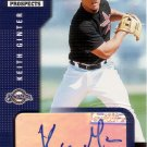 KEITH GINTER 2002 SELECT ROOKIES & PROSPECTS AUTOGRAPH #55 HOUSTON ASTROS