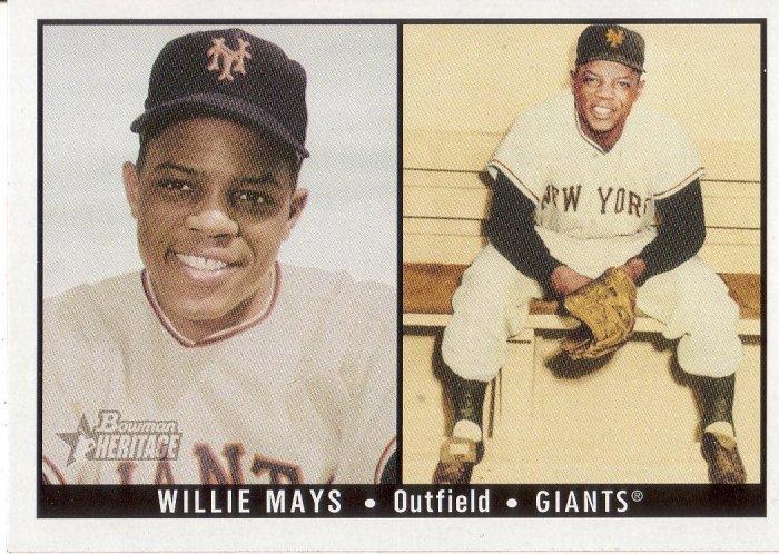 WILLIE MAYS 2003 BOWMAN HERITAGE #171B NEW YORK GIANTS