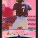 HECTOR GARCIA 2001 BOWMAN CHROME GOLD REFRACTOR ROOKIE #135 MILWAUKEE BREWERS