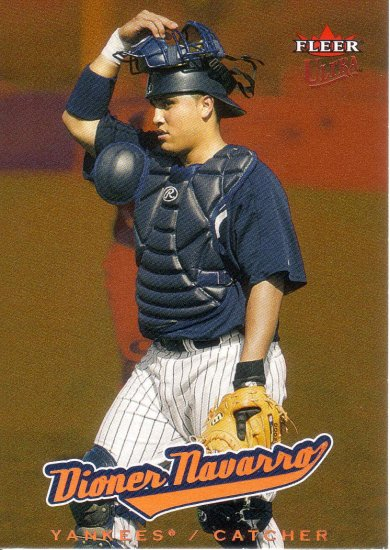 DIONER NAVARRO 2005 ULTRA GOLD MEDALLION #211 NEW YORK YANKEES