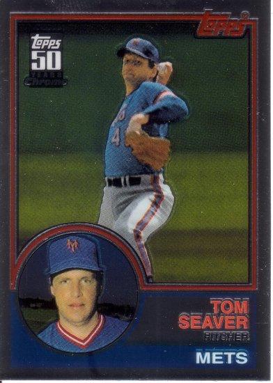 TOM SEAVER 2001 TOPPS TRADED CHROME REPRINT #8 (T107) NEW YORK METS