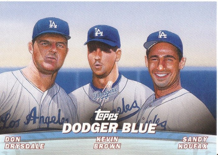 LOS ANGELES DODGERS 2001 TOPPS COMBOS #TC11 DODGER BLUE