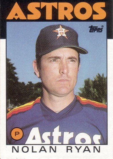 NOLAN RYAN 1986 TOPPS #100 HOUSTON ASTROS