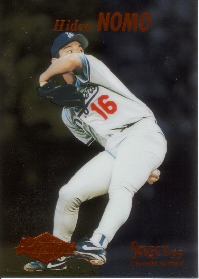 HIDEO NOMO 1995 SELECT CERTIFIED #98 ROOKIE LOS ANGELES DODGERS