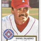 RAFAEL PALMEIRO 2001 HERITAGE BLACK BACK #5 TEXAS RANGERS
