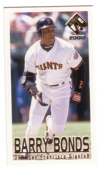 BARRY BONDS 2000 PRIVATE STOCK ACTION MINI #49 SAN FRANCISCO GIANTS