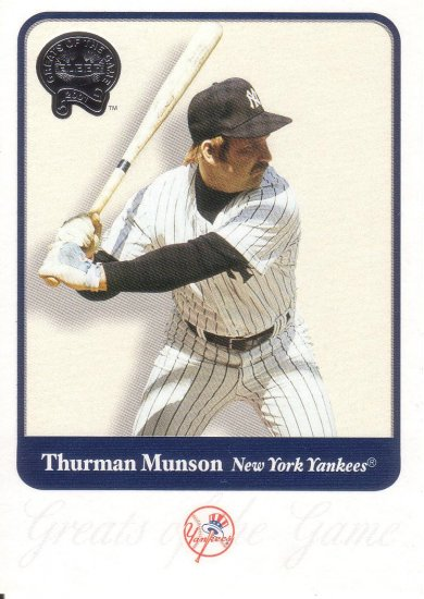 THURMAN MUNSON 2001 GREATS OF THE GAME #38 NEW YORK YANKEES