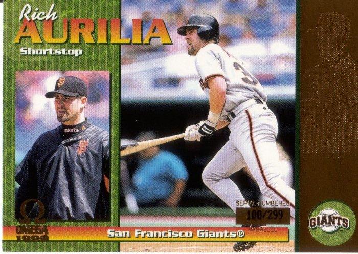 RICH AURILIA 1999 OMEGA GOLD #208 SP# 100/299 SAN FRANCISCO GIANTS AllstarZsports.com