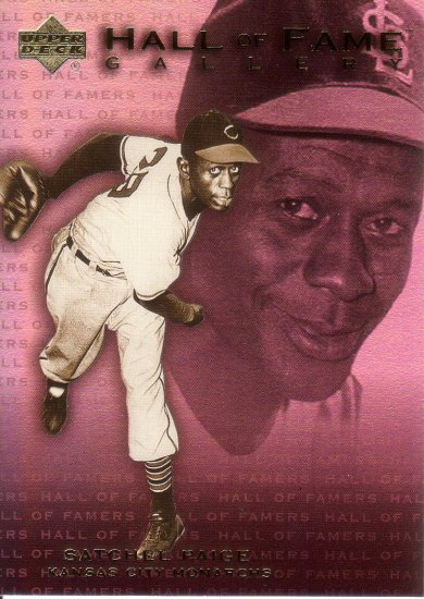 SATCHEL PAIGE 2001 UD HALL OF FAMERS GALLERY #G13 KANSAS CITY MONARCHS AllstarZsports.com