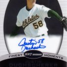 JUSTIN DUCHSCHERER 2008 FINEST MOMENTS #FMA-JD AUTO OAKLAND ATHLETICS AllstarZsports.com