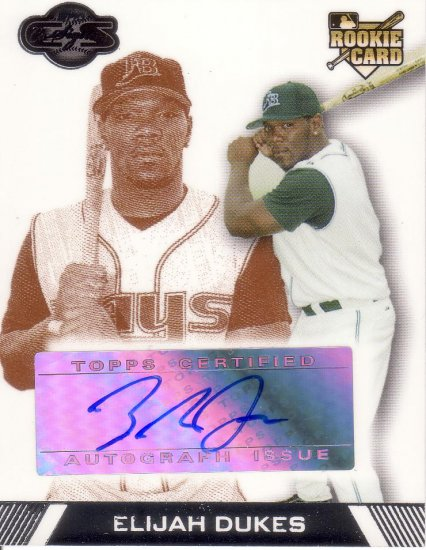 ELIJAH DUKES 2007 TOPPS CO-SIGNERS #119 114/200 GOLD ROOKIE TAMPA BAY DEVIL RAYS AllstarZsports.com