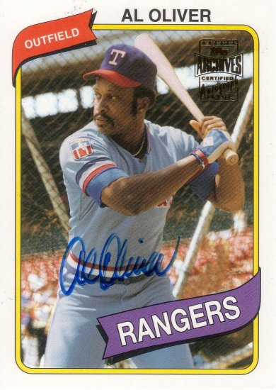 AL OLIVER 2003 TOPPS ARCHIVES ALL-TEAM FAN FAVORITES #A0 AUTOGRAPH TEXAS RANGERS AllstarZsports.com