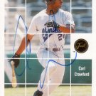 CARL CRAWFORD 2001 JUST STUFF AUTO #BA53 CHARLESTON RIVERDOGS AllstarZsports.com