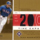 ALEX RODRIGUEZ 2002 UD HONOR ROLL TIME CAPSULE JERSEY #AR3 SP# 43/99 GOLD RANGERS AllstarZsports.com