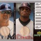 KEN GRIFFEY JR. / CANSECO 2001 MVP SOUVENIRS DUAL BAT CARD #B-HR  REDS / YANKEES AllstarZsports.com