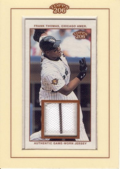 FRANK THOMAS 2002 TOPPS 206 RELICS JERSEY A1 #TR-FT CHICAGO WHITE SOX AllstarZsports.com