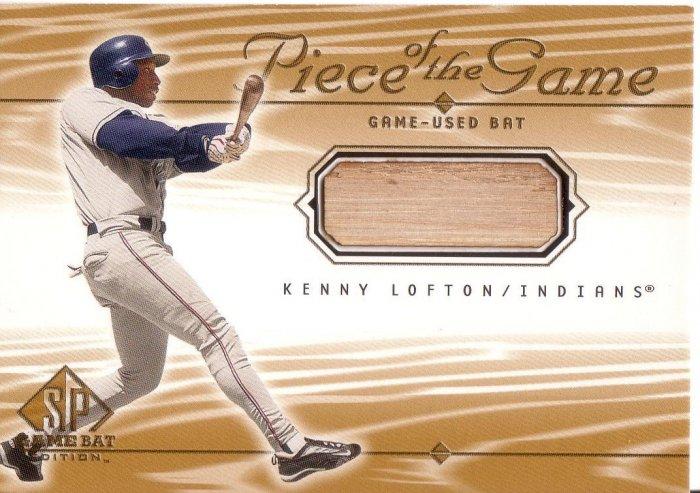KENNY LOFTON 2001 SP GAME BAT PIECE OF THE GAME BAT #KL CLEVELAND INDIANS AllstarZsports.com
