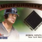 ROBIN VENTURA 2001 FLEER GAME TIME UNIFORMITY UNIFORM #20 NEW YORK METS AllstarZsports.com