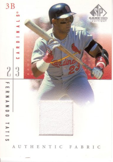 FERNANDO TATIS 2001 SP GAME USED AUTHENTIC FABRIC #FTa ST. LOUIS CARDINALS AllstarZsports.com