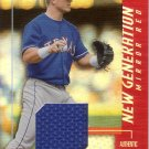 HANK BLALOCK 2002 LEAF NEW GENERATION MIRROR RED JERSEY #177  096/150 RANGERS AllstarZsports.com