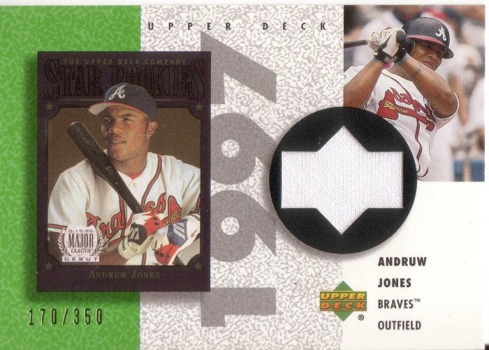 ANDRUW JONES 2002 UD BALL PARK IDOLS PLAYER'S CLUB JERSEY #R-AJ 170/350 BRAVES AllstarZsports.com