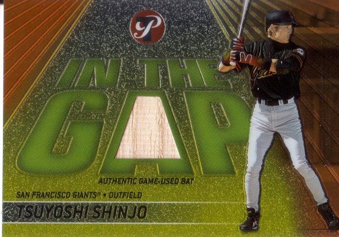 TSUYOSHI SHINJO 2002 TOPPS PRISTINE IN THE GAP GAME-USED BAT #IG-TS S.F. GIANTS AllstarZsports.com