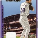 LUIS GONZALEZ 2002 FLEER FOCUS JERSEY LARGER THAN LIFE JERSEY #3 DIAMONDBACKS AllstarZsports.com