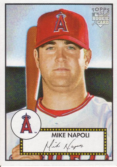 MIKE NAPOLI 2006 TOPPS '52 #35 ROOKIE ANAHEIM ANGELS AllstarZsports.com