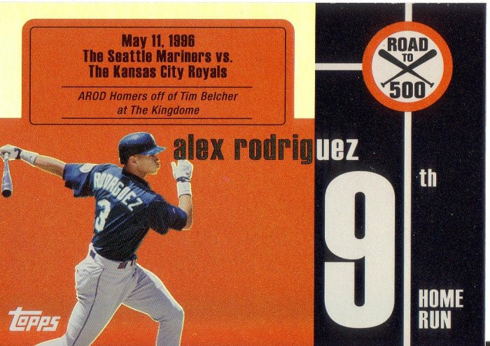 ALEX RODRIGUEZ 2007 TOPPS AROD ROAD TO 500 #ARHR9 SEATTLE MARINERS AllstarZsports.com