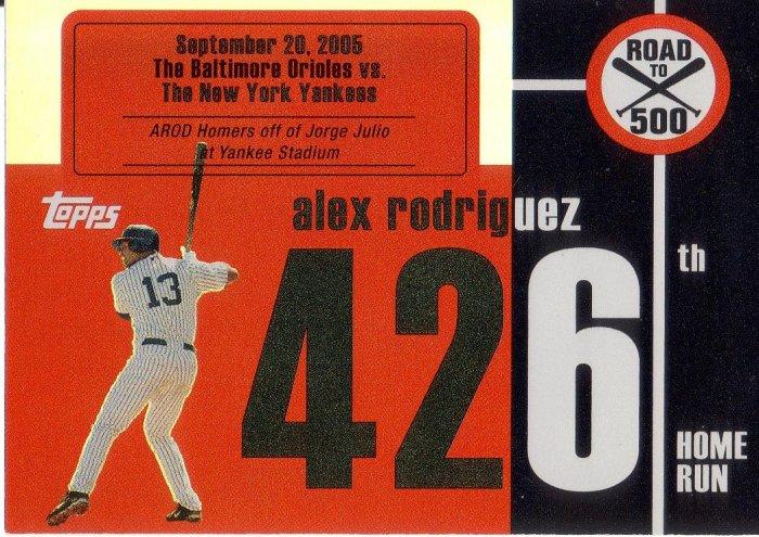 ALEX RODRIGUEZ 2007 TOPPS AROD ROAD TO 500 #ARHR426 NEW YORK YANKEES AllstarZsports.com