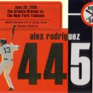 ALEX RODRIGUEZ 2007 TOPPS AROD ROAD TO 500 #ARHR445 NEW YORK YANKEES AllstarZsports.com
