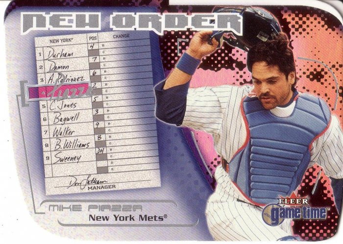 MIKE PIAZZA 2001 FLEER GAME TIME NEW ORDER #9 OF 15 NO NEW YORK METS AllstarZsports.com