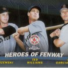 YASTRZEMSKI, WILLIAMS, GARCIAPARRA 2001 TOPPS CHROME HEROES OF FENWAY #TC13 AllstarZsports.com