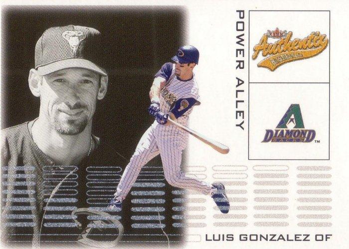 LUIS GONZALEZ 2002 AUTHENTIX POWER ALLEY #3 ARIZONA DIAMONDBACKS AllstarZsports.com