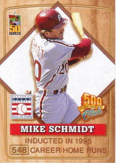 MIKE SCHMIDT 2001 TOPPS POST 500 CLUB #7 OF 8 PHILADELPHIA PHILLIES AllstarZsports.com