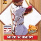 MIKE SCHMIDT 2001 TOPPS POST 500 CLUB #7 OF 8 PHILADELPHIA PHILLIES AllstarZsports.com