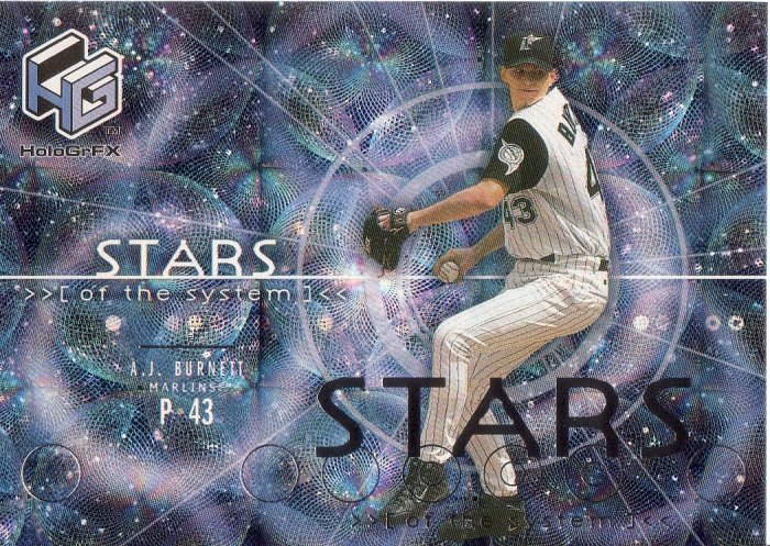 A.J. BURNETT 2000 UPPER DECK HOLOGrFX STARS OF THE SYSTEM #SS7 FLORIDA MARLINS AllstarZsports.com