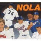 NOLAN RYAN 1991 UPPER DECK BASEBALL RYAN HEROES #18 RANGERS AllstarZsports.com