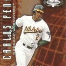 CARLOS PENA 2002 FLEER BOX SCORE ROAD TRIP #217 SP# 1482/2950 OAKLAND ATHLETICS AllstarZsports.com