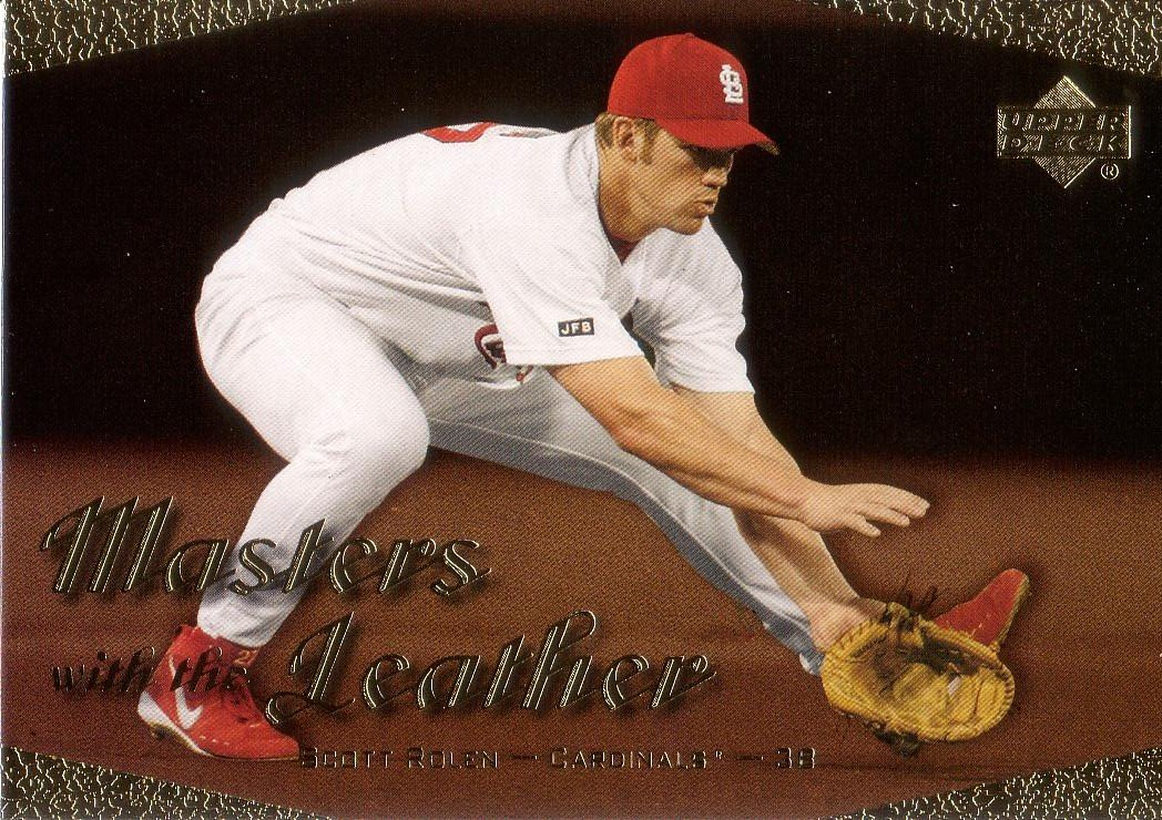 SCOTT ROLEN 2003 UPPER DECK MASTERS WITH THE LEATHER #L11 PHILADELPHIA PHILLIES AllstarZsports.com